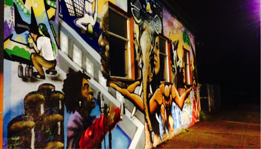 Mural on UnitedRoots building.