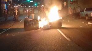 Trash can fires on Grand Ave.