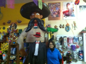 Josefina Lopez in her store