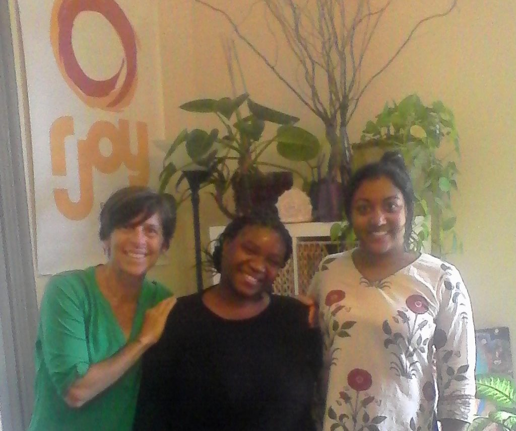 Kat Culberg,RJOY Project Dir. Aqueila M. Lewis and Neely Upamaka, RJOY Project Associate