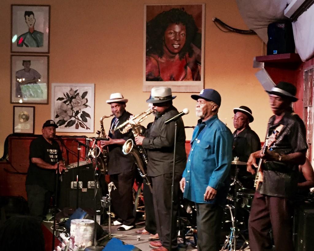 Blues band at Everett and Jones