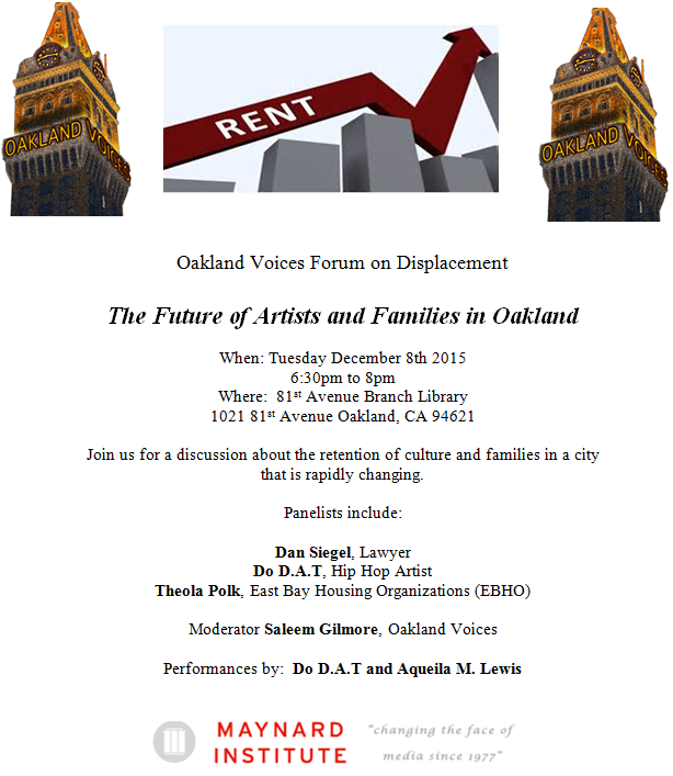 Oakland Voices Forum on Displacement