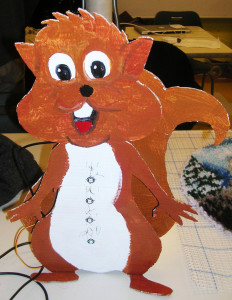 Linda Rogers' Sammy the Squirrel classroom noise monitor