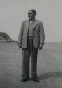Katharine's father at the beach in the 1950s.