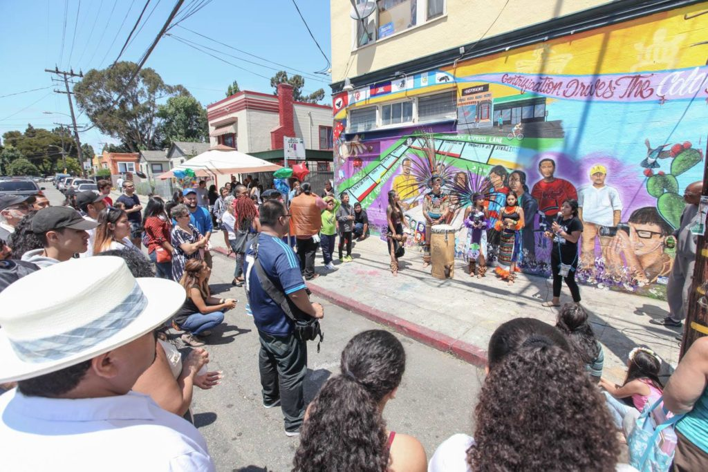 Town Roots: Oakland is Home Mural Unveiling, East 27th Street. Photo Credits: Diana Clock