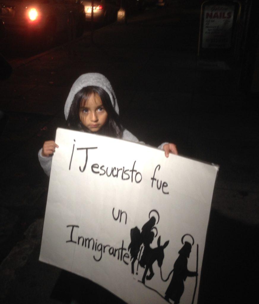 Camila and sign (Bill Joyce photo)