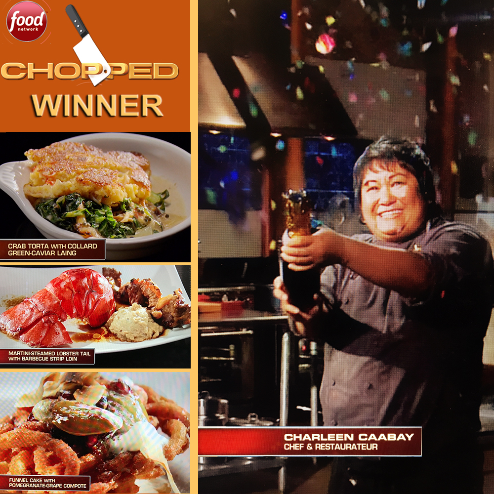 "Winning Food Network's Chopped ""New Year's Bash"" competition. Photo: Kainbigan.com"
