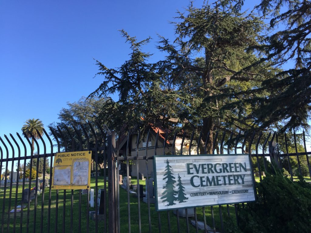 Evergreen Cemetery Entrance