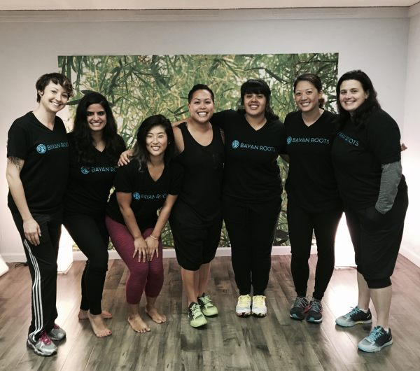 Rose Foronda, center, founder of the Bayan Roots wellness center with her wellness team at the studio, 2575 MacArthur Blvd, Oakland. (Photo courtesy of Molly Baskin)