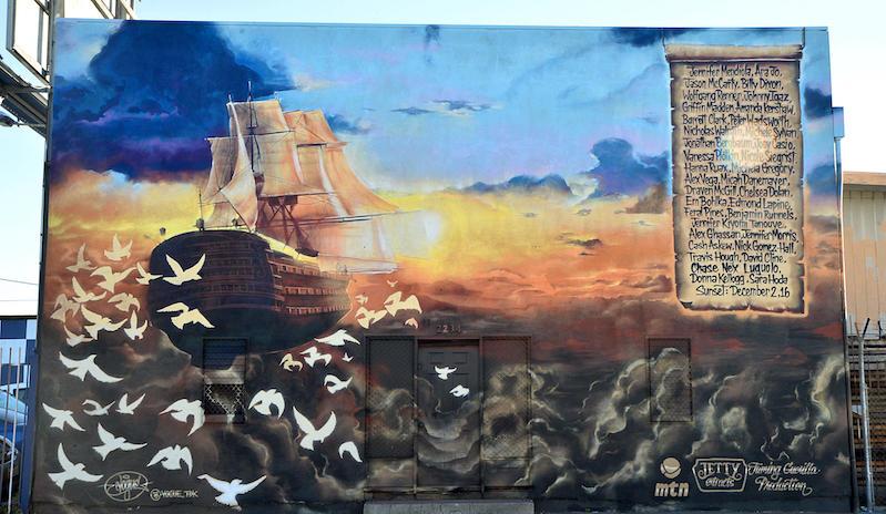 Ghost Ship Memorial Mural