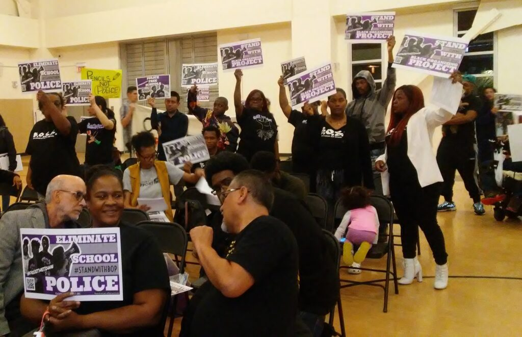 The Black Organizing Project is calling for the elimination of the Oakland Unified School Police force.