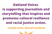 quote from akonadi foundation about oakland voices