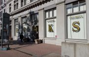 An image of a storefront on the iconic Broadway in downtown Oakland.