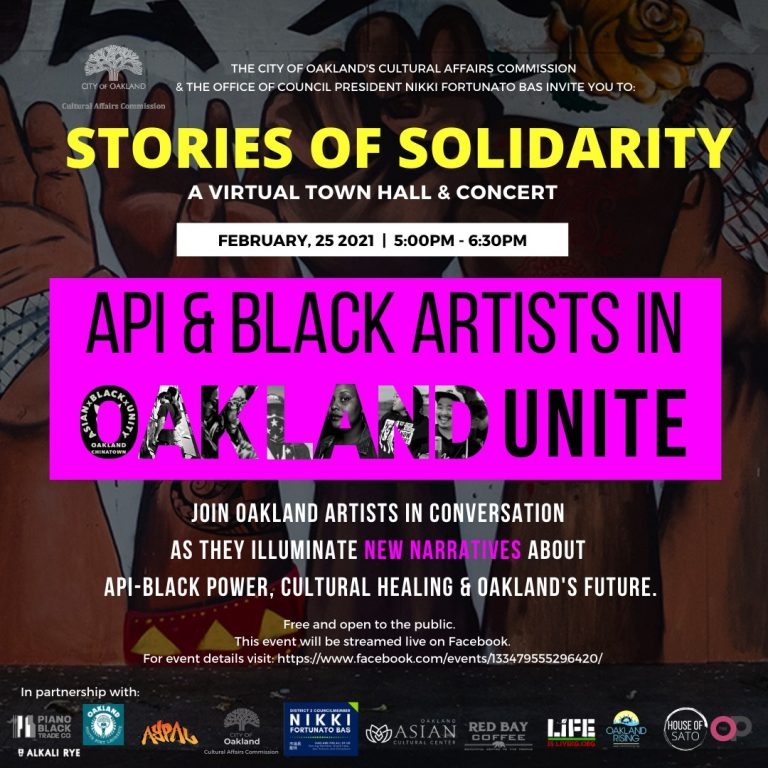 """A flyer image promoting """"Stories of Solidarity"""""""
