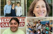 A collage of four families/OUSD administrators